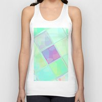 lv Tank Tops featuring Re-Created Mirrored SQ LV by Robert S. Lee by Robert S. Lee Art