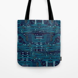 Dark Circuit Board Tote Bag
