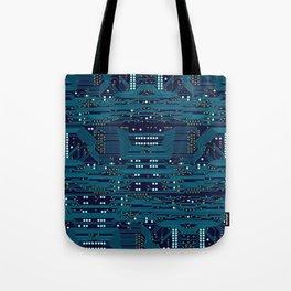 Dark Circuit Board Tote Bag