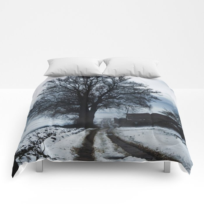 Foggy winter day I Comforters