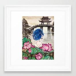 LunaLunaLotusGirl Framed Art Print