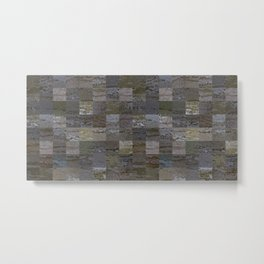 Bark Tiles Metal Print