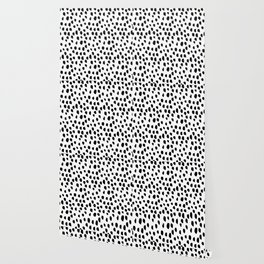 Hand drawn drops and dots on white - Mix & Match with Simplicty of life Wallpaper