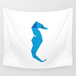 Origami Seahorse Wall Tapestry