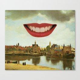 One Must Imagine Vermeer Happy Canvas Print
