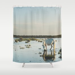 Camargue Horses XXI Shower Curtain