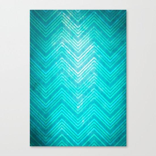 Blue Chevron Canvas Print