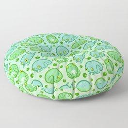 Friendly Frogs Floor Pillow