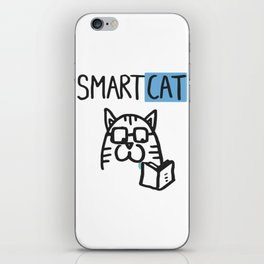Smart cat iPhone Skin