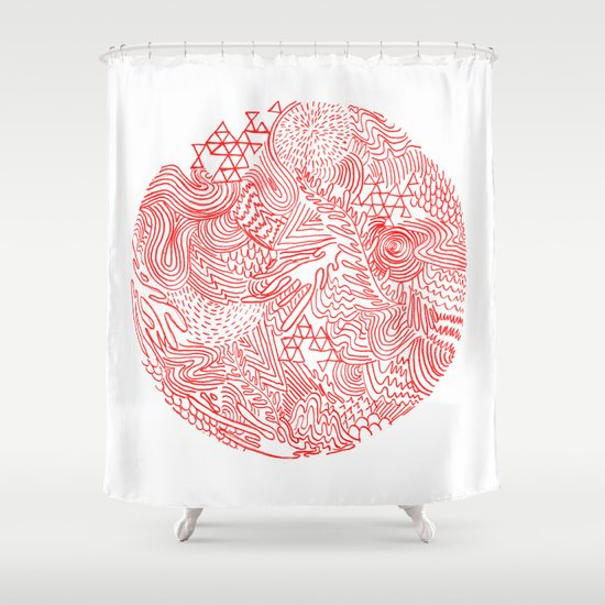 Earthquake Shower Curtain