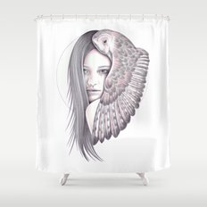 Alone With The Owl Shower Curtain