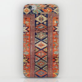 Southwestern Farmhouse V // 19th Century Colorful Red Yellow Blue Green Aztec Farm Stars Pattern iPhone Skin
