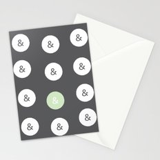 spot color ampersand Stationery Cards
