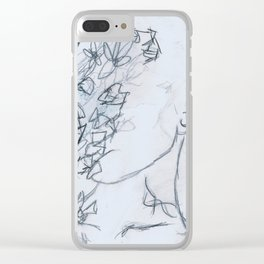 face of flowers Clear iPhone Case