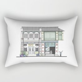Penang Street Scene I Rectangular Pillow