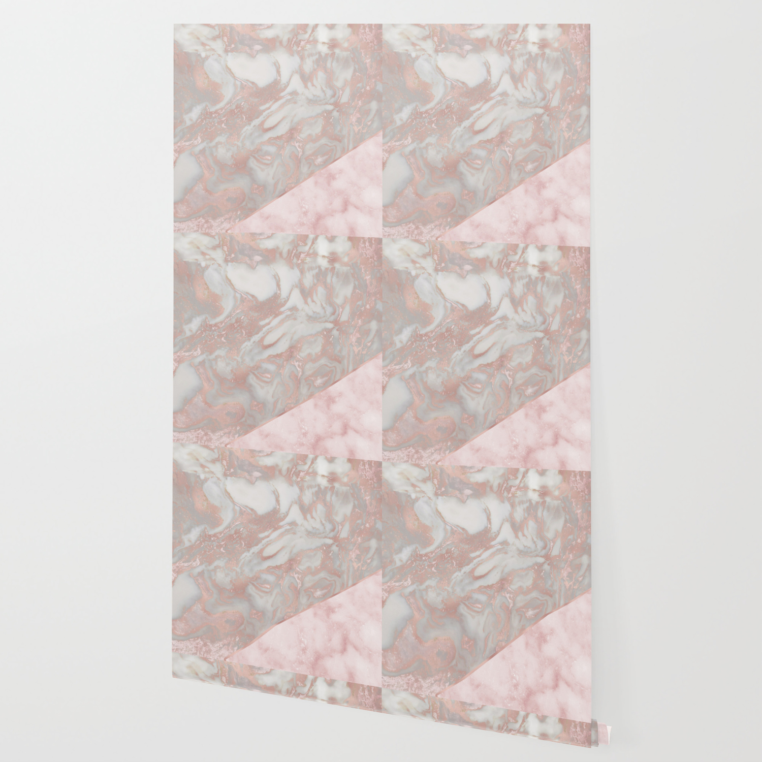 Pink Marble French Polished Rose Gold Marble Wallpaper By Marbleco Society6