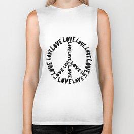 Love and Peace Biker Tank