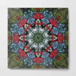 Japanese maple leaf mandala - 0592 k2 Metal Print