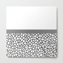staklo (gray stripe) Metal Print