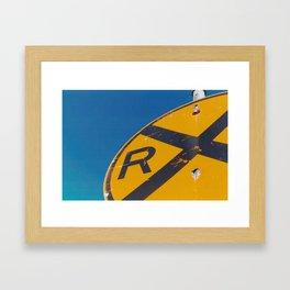 Railroad Sign-Film Camera Framed Art Print