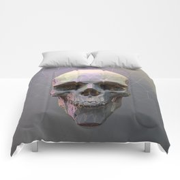 Skull Colorful Wires 1 Comforters