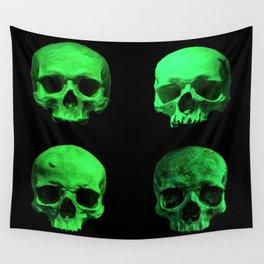 Skull quartet green Wall Tapestry