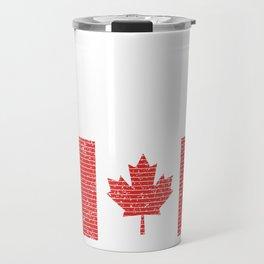 Canadian National Flag Vintage Canada Country Gift Travel Mug