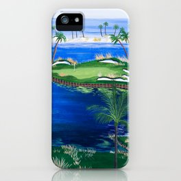 18th hole at the Beach iPhone Case
