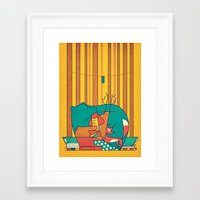 music Framed Art Prints featuring MUSIC by Ale Giorgini