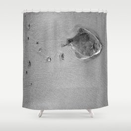 Dead fish Shower Curtain