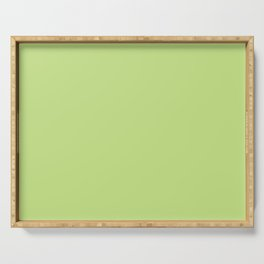 From The Crayon Box – Yellow Green - Bright Green Solid Color Serving Tray