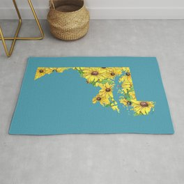 Maryland in Flowers Rug