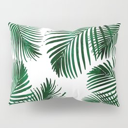 Tropical Palm Leaf Pillow Sham