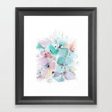 Gentle bouquet Framed Art Print