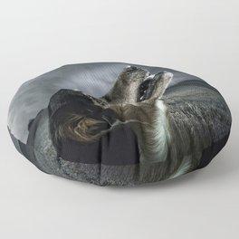 Dog moonlight 1 Floor Pillow