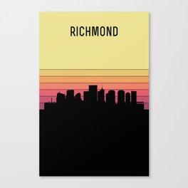 Richmond Skyline Canvas Print