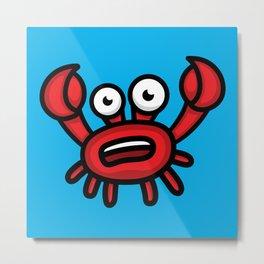 Crab Luigi Metal Print