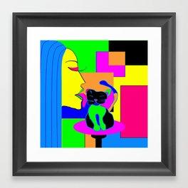 Licked Framed Art Print