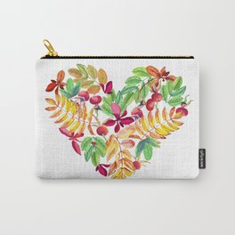 Heart leaves watercolor Carry-All Pouch
