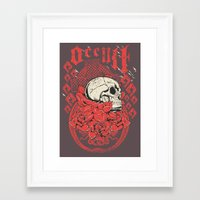occult Framed Art Prints featuring Occult Religion by Tshirt-Factory