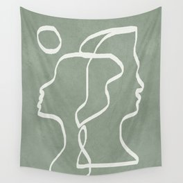 Abstract Faces Wall Tapestry