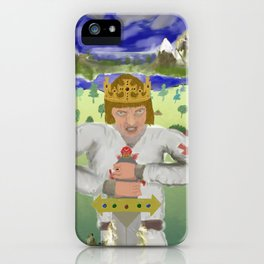 King Arthur Extracts Excalibur iPhone Case