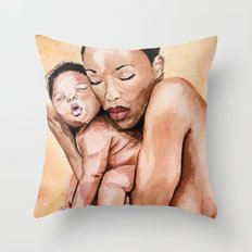 Mother and baby. Throw Pillow