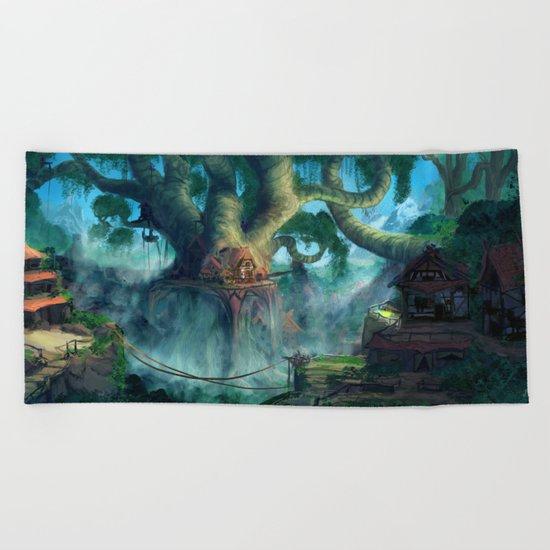Lost Civilization Beach Towel