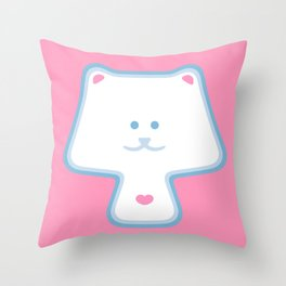 YippyMew Throw Pillow