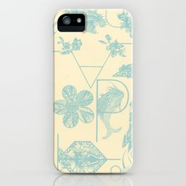 Letters in blue iPhone Case
