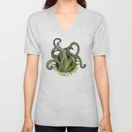 Nerdy - Lovecraft R'lyeh Unisex V-Neck