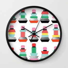 memphis tower variations Wall Clock