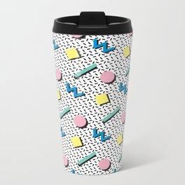 Memphis pattern no.3 Metal Travel Mug