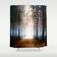 agnes Shower Curtains featuring Enchanted Forest by Viviana Gonzalez